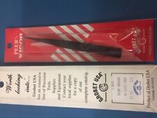 Peer-Vigor Pn 57.551 Boley Style Tweezers, Pattern Aa, Black 4-3/4 Inch (121mm)