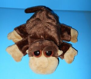 Caltoy Big Eyed Monkey Velvety Soft Plush Glove Puppet Movable Limbs Play 10""