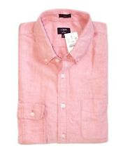 J Crew Factory - Mens L - NWT - Slim Fit Amber Pink/Old Red Cotton Oxford Shirt