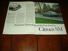 CITROEN SM - MASERATI POWERED ***ORIGINAL 1982 ARTICLE***
