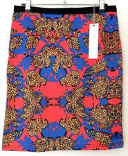 Regular Size Animal Print Knee-Length Skirts for Women