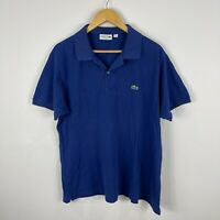 Lacoste Mens Polo Shirt XL Blue Short Sleeve Collared