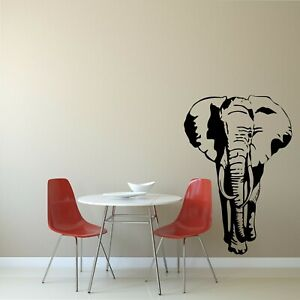 Elephant Wall Art Vinyl Sticker Living Room/Hallway Home Decor