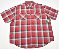 $50 NWT Mens Ecko Unltd Smoke Break Plaid Poplin Button Down Shirt 3XB 3X N743
