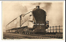 LNER West Riding Limited w/ Dwight D Eisenhower no 4496 Locomotive PPC Unposted