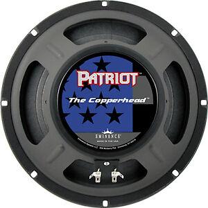 "Eminence The Copperhead 10"" Guitar speaker 8 ohm Patriot Series 75 watt"