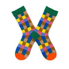BIRDNANA Socks Women Coloured Socks Colourful Small Grid Unisex Cotton Socks