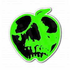 Green Apple Skull Sticker