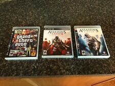 PS3 Game lot, Assassin's Creed, Grand theft Auto 4