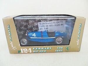 BRUMM R41 'BUGATTI TYPE 5' BLUE #4 1933. 1:43 MIB/BOXED. VINTAGE.