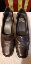 "Mootsies tootsies 7.5 brown w 2.5"" heels"