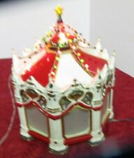 Department 56 Snow Village Carnival Carousel Merry go round 1998 For Parts Read