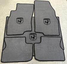 Autoteppich Fußmatten Kofferraum für Fiat Grande Punto Abarth Grau-schw 5tlg Neu