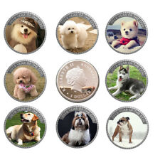 2018 Year Silver Coin 999.9 Silver Plated Puppy Coins Home Decorative Metal Coin