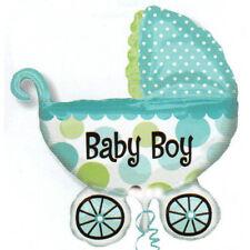 palloncino passeggino blu baby bambino elio aria nascita decorazione