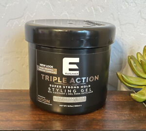 ELEGANCE Triple Action MOON Super Strong Hold Styling Gel 16.9oz.