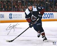 Cale Makar Colorado Avalanche Signed 16 x 20 Navy Alternate Jersey Skating Photo