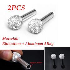 2x Rhinestone Car Door Lock Knob Handle Peg Pin Decoration Button Equipment Tool