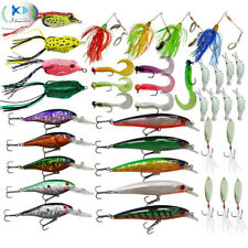 60PCS Hard Lure Soft Lures Fishing Lure Kits Minnow Trout Pike Bass Spinnerbait
