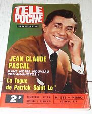 TELE POCHE  #583 13/04 1977 JEAN-CLAUDE PASCAL MOTO YAMAHA FOOT ANDRE REY METZ