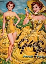 Vintage Uncut 1953 Golden Girl Paper Dolls~#1 Reproduction~8 Pages Clothing!