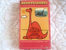 BRONTOSAURUS VHS VIDEO GEMS BIG BOX ANIMATED ANIME CZECH CHILDREN ENVIRONMENTAL