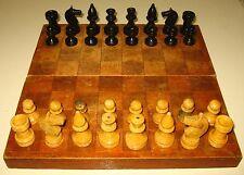 Small Soviet Wooden Chess Set. Vintage