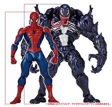 KAIYODO Hot REVOLTECH AMAZING YAMAGUCHI 002 003 SPIDER-MAN VENOM Toys 2 Figure