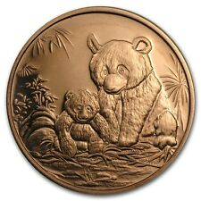 999 Kupfer Copper Kupfermedaille Münze China Panda 1 AVDP oz SELTEN