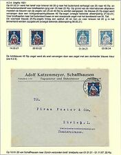 Switzerland covers Collection SITZENDE HELVETIA specialised  COVER + 4 stamps