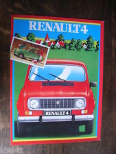 RENAULT 4 (modelli 1983: 4, 4, TL 4 GTL) Prospetto/brochure/DEPLIANT, D