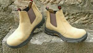 Stubbies Workwear Axle Sand Suede Safety Boot Size AU/UK 10 / USA 11