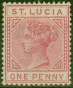 St Lucia 1883 1d Carmine-Rose SG32 Fine Mtd Mint
