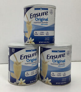 Ensure Original Nutrition Powder, Vanilla, Makes 7 Servings, Pack of 3