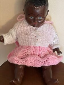 """Vintage 1930 S Black 15"""" Doll From England"""