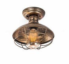 Rustic Ceiling Light Fixture Vintage Industrial Semi Flush Mount Cage Farmhouse
