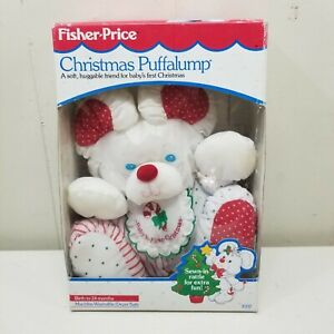 Fisher Price Christmas Puffalump Toy Rattle Babys First Christmas Holiday Plush