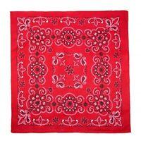XL Bandana Scarf Red Black White Texas Paisley Extra Large 27 inch square Cotton
