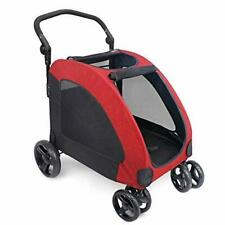 Ireenuo Dog Stroller 4 Wheels Pet Jogger Wagon Foldable Cart Adjustable Handl.