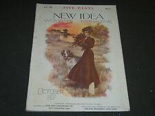 1907 OCTOBER NEW IDEA WOMAN'S MAGAZINE - COLOR FASHION - ILLUSTRATIONS - ST 256