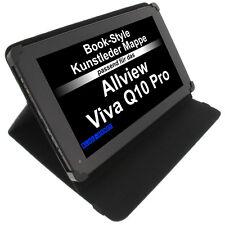 Tasche für Allview Viva Q10 Pro Book Style Schutz Hülle Tablet Halter Schwarz