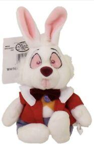 "White Rabbit Alice In Wonderland Disney Store Plush Beanie Bean Bag 9"" in. NWT"