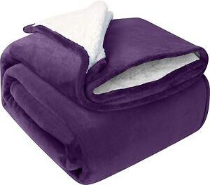 Utopia Bedding Sherpa Bed Blanket Twin Size Grey 480GSM Plush Blanket Fleece Rev