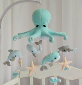 Ocean Baby mobile Octopus Mobile nursery Boy baby mobile Nursery decor