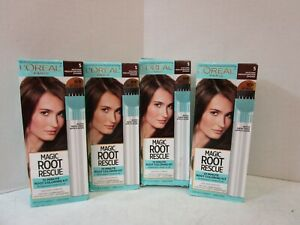 4 L'OREAL ROOT RESCUE - MEDIUM BROWN #5 - PERMANENT MM 19522