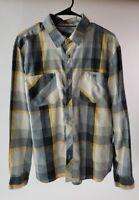 LEVI STRAUSS & CO. Men's Long Sleeve Button Front Plaid Shirt Size L Large