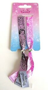 Disney Princess Festival Wristbands Bracelets Official x2
