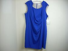 NEW CALVIN KLEIN Dress 22W 22 W Blue Plus Sleeveless Sheath Cocktail Sexy $100