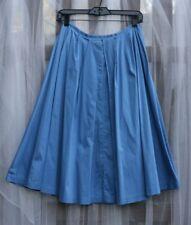 """ideology blue cotton full skater pleated summer skirt size 4 S/M27"""" Waist 27"""""""