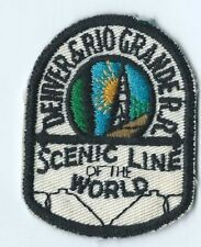 Denver & Rio Grande RR patch senic line of the world 2-1/2 X 2 #1612